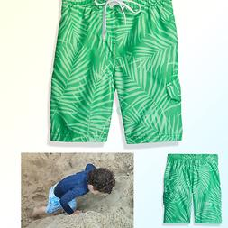 Kanu Surf Boys' Palma Floral Swim Trunk Green Toddler Boys 4