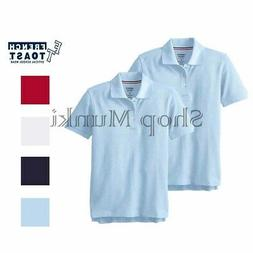 French Toast Boys Short Sleeve Polo 2 Pack Official School U