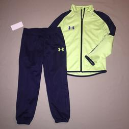Boys size 4 4t Under Armour Jacket Track Pants Outfit Set At