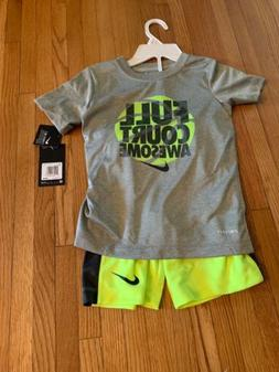 Nike Boys Size 7 2 piece set New With Tags Shorts And T-shir