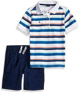 Nautica Boys Striped Polo 2pc Short Set Size 2T 3T 4T 4 5 6
