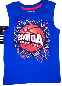 adidas Boys Tank Top Shirt  NWT Size  2T or 3T Super Charged