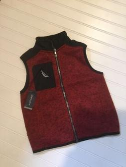Nautica Boys Vest/Jacket Red Rouge Size 7 NWT