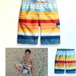 Kanu Surf Boys' Victor Stripe Quick Dry Beach Board Shorts S