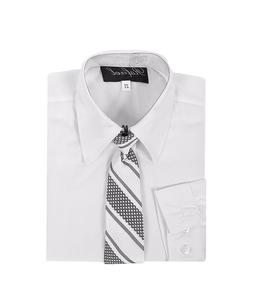 boys white formal dress shirt with matching tie for Easter w