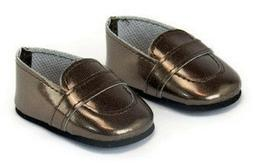 """Brown Loafer Dress Shoes Boy made for 15"""" Bitty Baby & Bitty"""