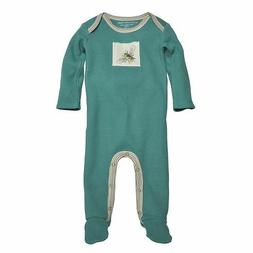 Burt's Bees Baby Boy Thermal Footed Coverall ~ Aqua/Turquois