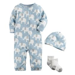 carters baby boy clothes 3 months elephant