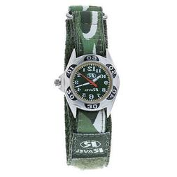 Ravel Children's Camouflage Army Watch Green Dial Easy Faste