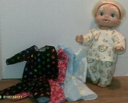 Doll clothes-fits Baby Alive/Baby Doll Girl/Boy-Pajamas-Flan