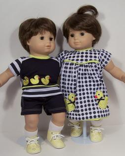 Duck Dress Undies Shirt Shorts Doll Clothes For Bitty Baby B