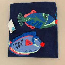 """Mini Boden Exquisite Boys """"FISH"""" Shirt. Size 8-10 years. So"""