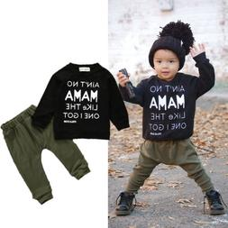 Fall Baby Boy Long Sleeve T-shirt Tops+Pants Trouses Outfits