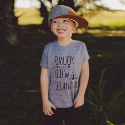 Fashion Children Baby Boy young Letter Print Short Sleeve T-
