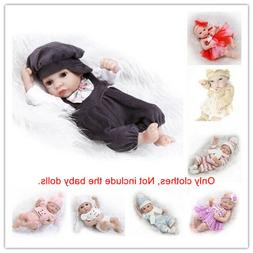 Fit for 10-11'' Reborn Baby Dolls Outfit Clothes Boy Girl Cl