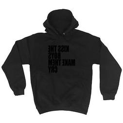 Funny Novelty Hoodie Hoody hooded Top - Kiss The Boys Make T