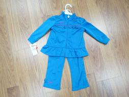 girls 2 piece tracksuit top and bottom