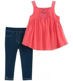girls coral tunic 2pc jegging set size