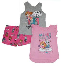 Paw Patrol Girls Pink & Multi Color 3pc Short Set Size 2T 3T