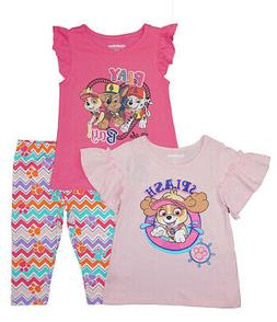 Paw Patrol Girls Splash 3pc Capri Legging Set Size 2T 3T 4T