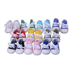"""Hot Handmade Canvas Shoes Shoes Fits 18"""" Inch American Girl"""