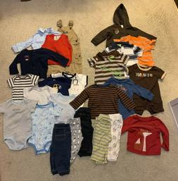 Huge Lot of Baby Boy Clothes and Accessories 3-6m and 6-9m,