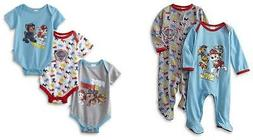 Paw patrol Infant Boys 5 Pack Bodysuits & Coveralls Size 3/6