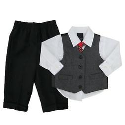 Nautica Infant Boys Holiday Outfit Red Plaid Tie Dress Up Cl