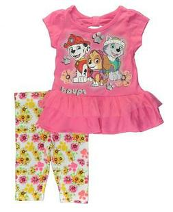 Paw Patrol Infant Girls Pink Tunic Two-Piece Legging Set Siz