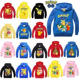 Kid Boy Girl Pokemon Pikachu Hoodie Top Pullover Sweatshirt