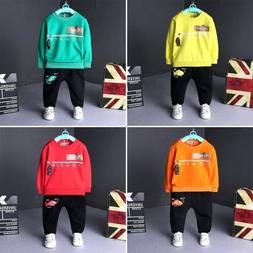 Kid Boy O-Neck Long Sleeve Outfit Cotton Children Sweater Cl