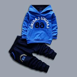 IENENS Kids Boys Clothes Baby Clothing Set Long Sleeve T-shi