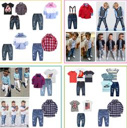 Kids Boys Party Wedding Gentleman Clothing Top/Coat/Jeans Ch