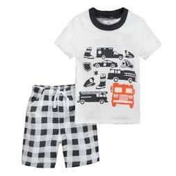 Kids Boys Summer Clothes Short Sleeve T-Shirt Tops + Shorts
