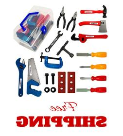 Kids Tool Set Construction Tools Kit 20Pc Pretend Play Toddl