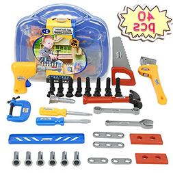 Kids Tool Set,KOMZONG Toy Tools,Boys Construction Play Tools