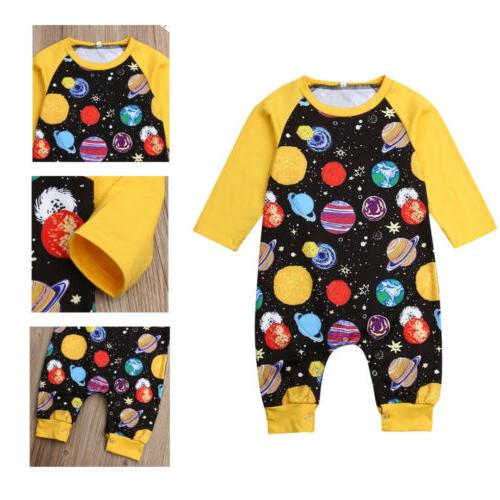 0-24Month Girls Jumpsuit Outfit Way Print Clothes
