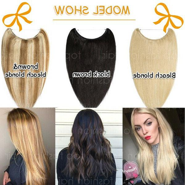 100% 120g Crown Halos Weft Human Hair Extensions P398