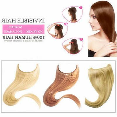 1PC Remy Hidden Halo Invisible Hair Extensions Stock