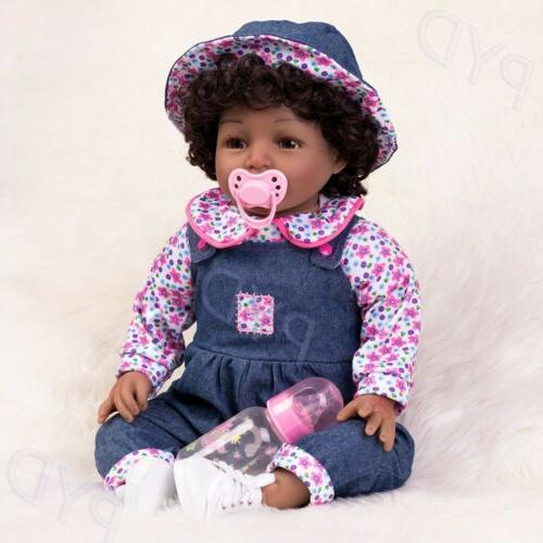 22'' Realistic Dolls African American Boy Toddler Gift