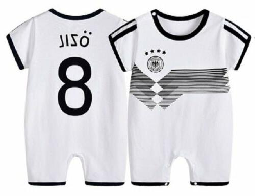Baby Boy 2018 World Cup Football Jersey Jumpsuit Outfit Romper