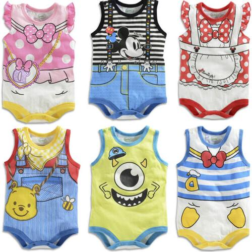Baby Boy Girl Infant Cartoon Summer Outfit Set