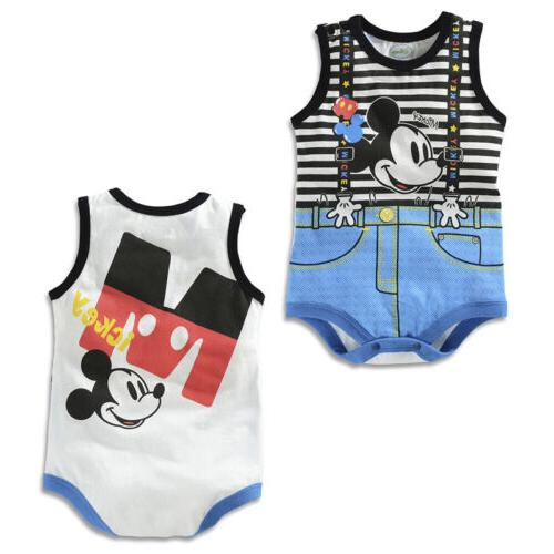 Baby Kid Boy Girl Infant Romper Cartoon Outfit Set
