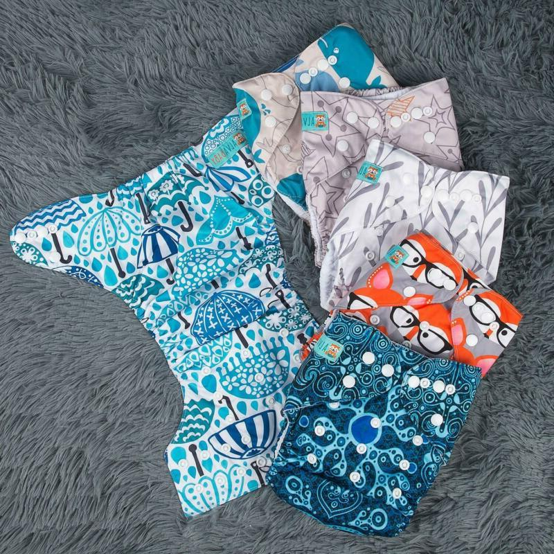 ALVABABY Pocket Cloth Reusable, Adjustable, Size for Baby