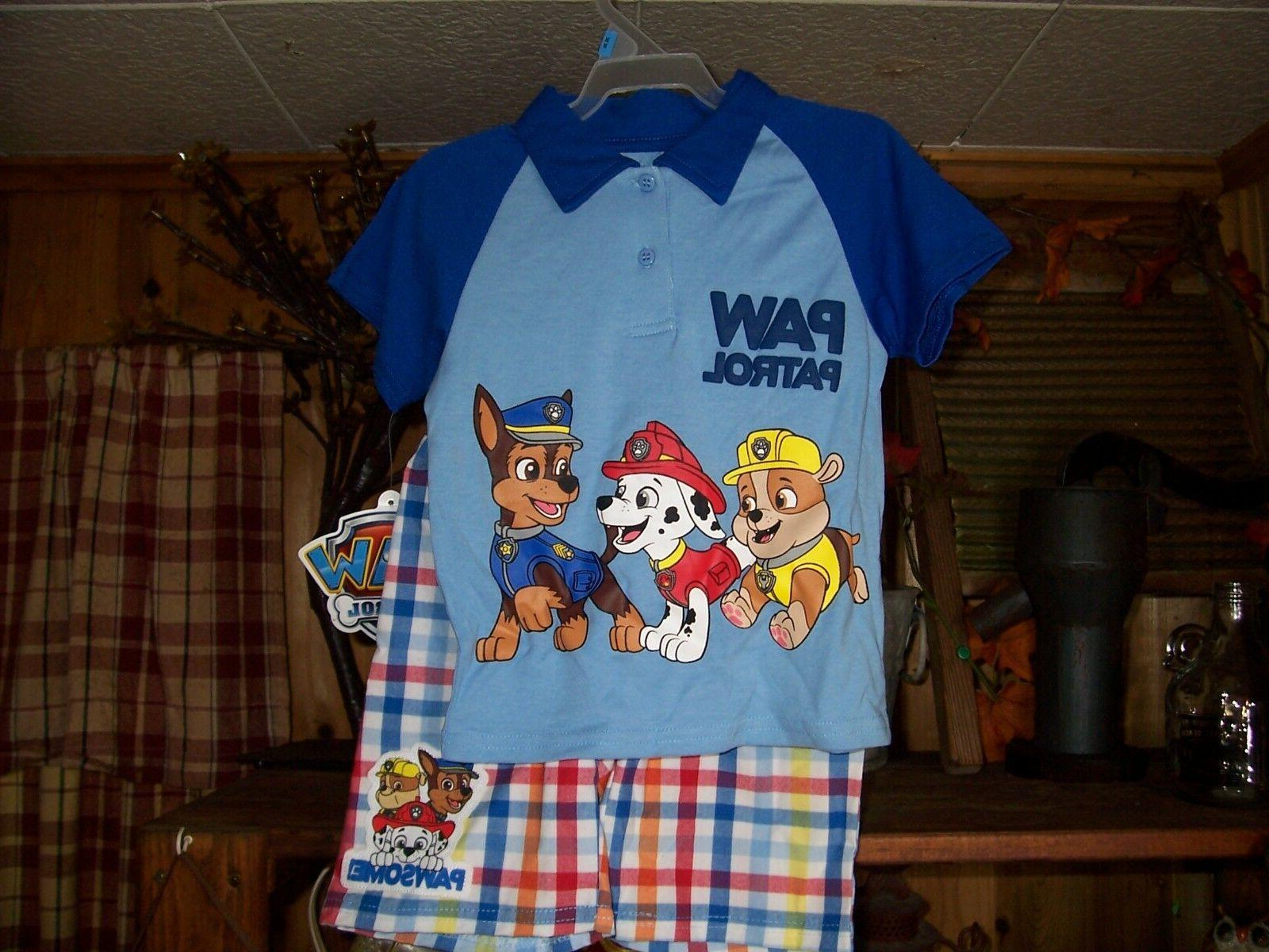 boy toddler shirt and short set size