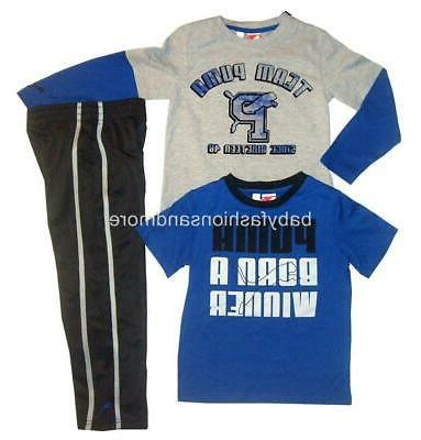boys 3pc clothes layered look shirt sporty