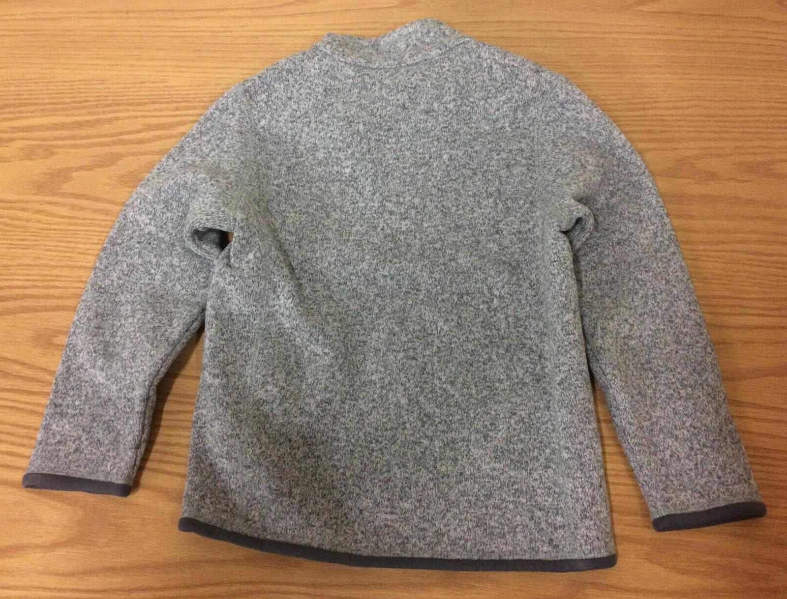 PATAGONIA BOYS' BETTER SWEATER 1/4 STONEWASH SMALL 7-8 NEW WITH CLOTHING