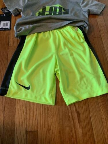 Nike Boys Size 2 piece New With Tags T-shirt Black