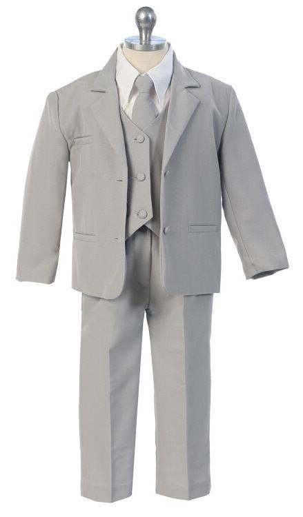 Boys Kids Children Formal Dress Party Gray S-XL 2T-4T 5-20 S