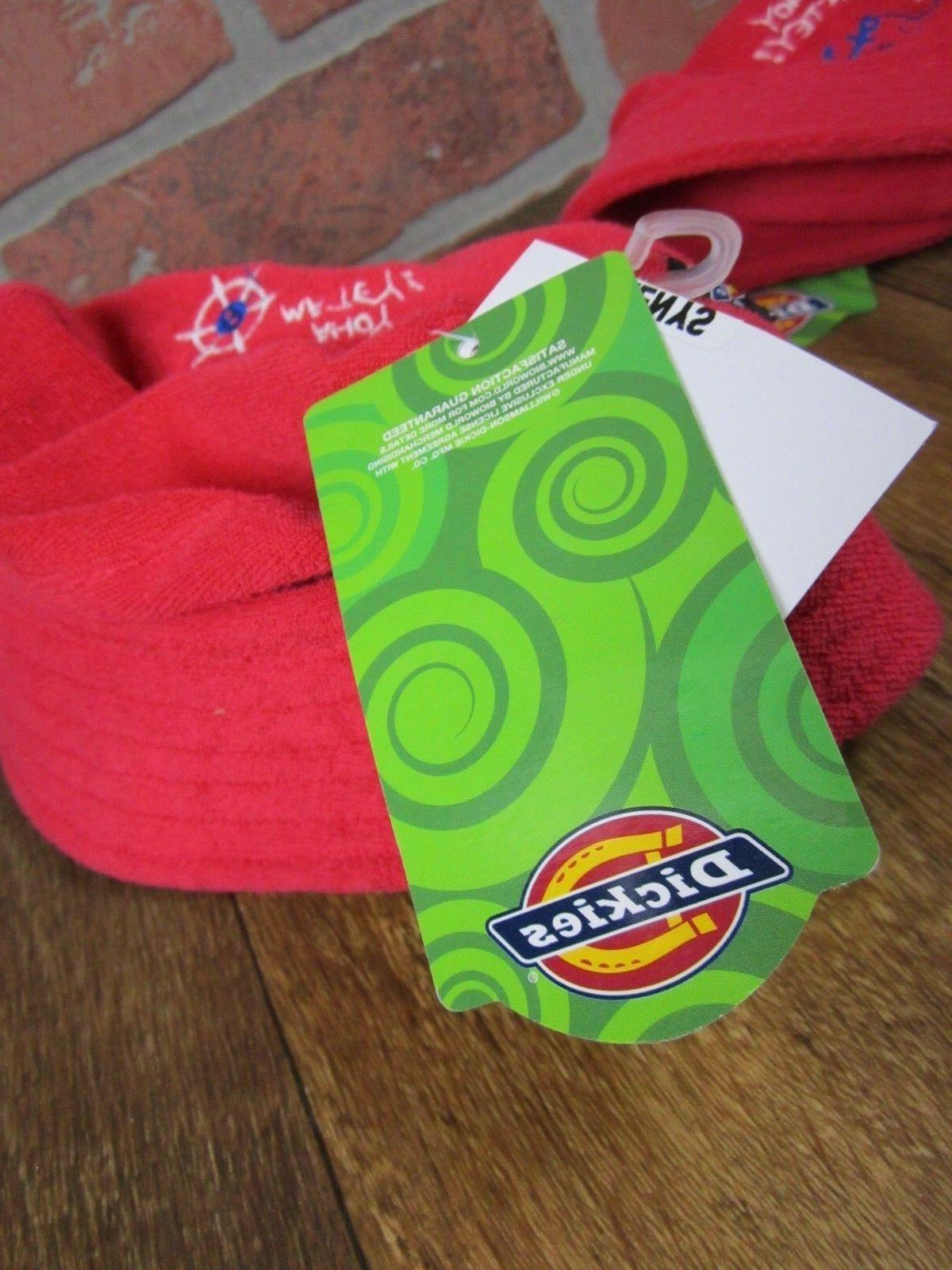 Dickies brand bucket hat TODDLER 12-24 months NEW chin strap terry cloth red NWT